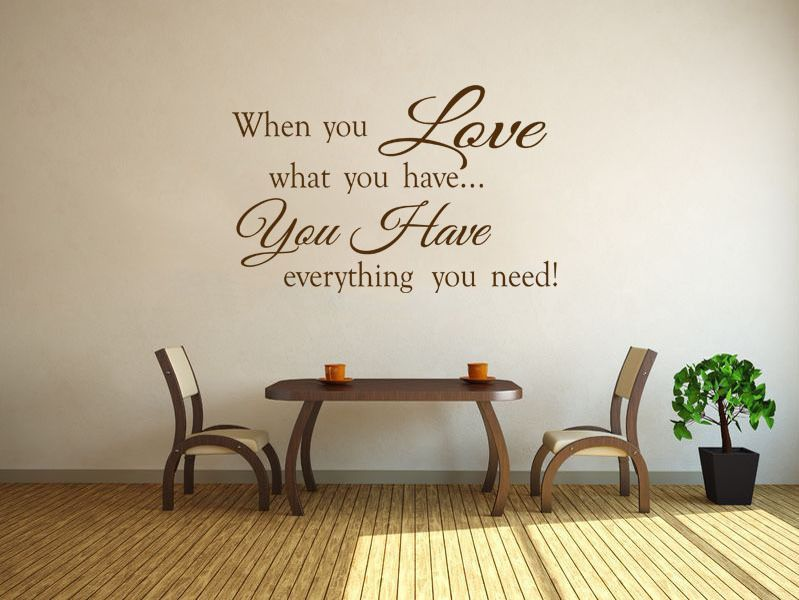 When You Love Family Wall Art Quote Vinyl Wall Art